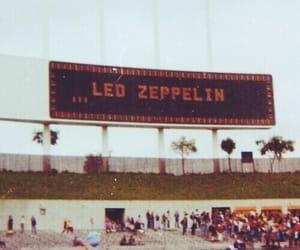 led zeppelin, concert, and vintage image