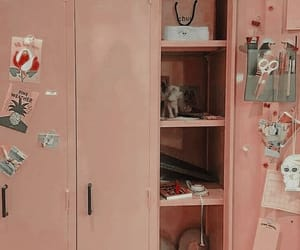 aesthetic, locker, and pink image
