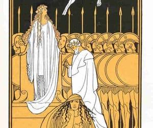 illustration, greek myths, and iphigenia image
