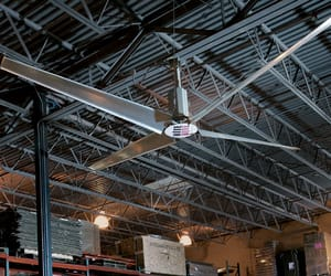 warehouse solutions, warehouse maintenance, and warehouse industrial fans image