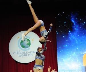 cheer, stunt, and girl image