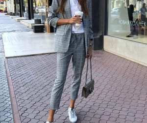 fashion, grey, and white image