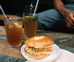 bagels, coffee, and food image
