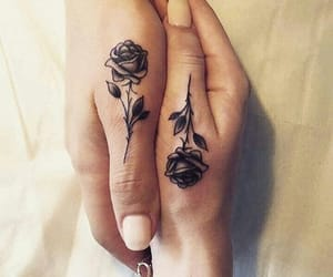 black, ink, and love image