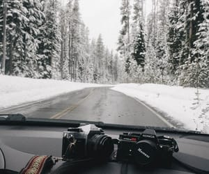 camera, drive, and snow image