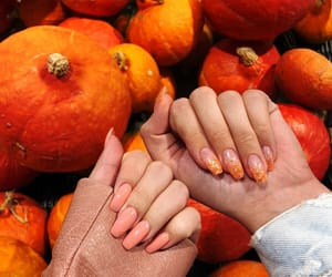 Halloween, nails, and orange image