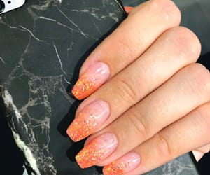 Halloween, marble, and nails image