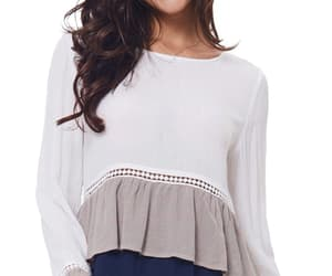 blouse, fashion blouse, and long sleeve blouse image