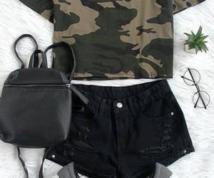 bag, fashion, and black shorts image