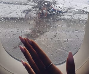 nails, rain, and travel image