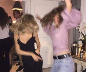 party, dance, and friends image