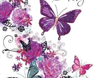 happy birthday and mariposas image