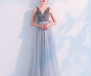 beading, evening dress, and evening dresses image