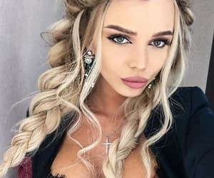 blonde, fashion, and braids image
