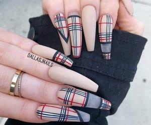 acrylic, beige, and nail polish image