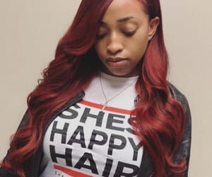 red hair, weave, and bundles image