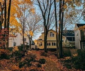 autumn, house, and tumblr image