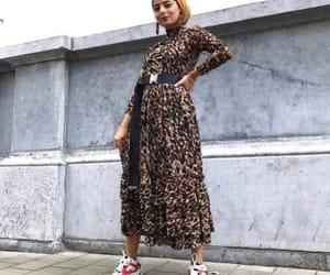 hijab, animal prints, and leopard dress image