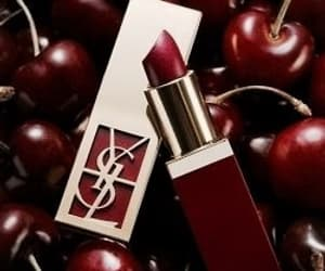 lipstick, cherry, and red image