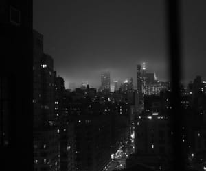 city, black, and night image