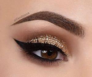 beauty, cat eye, and cosmetics image