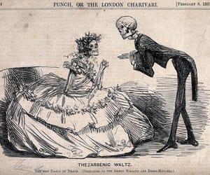 death, skeleton, and art image