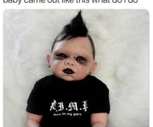 baby, black, and funny image