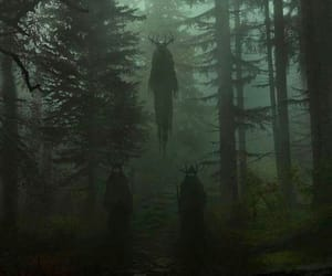 dark, satan, and forest image