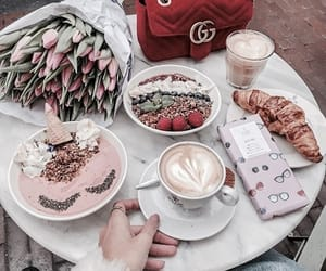 gucci, flowers, and food image