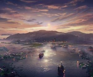 anime, bateau, and beautiful image