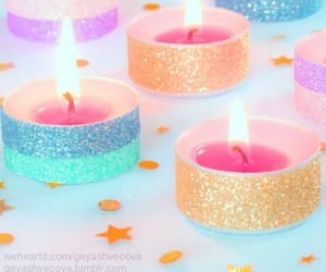 fire, pink, and candele image