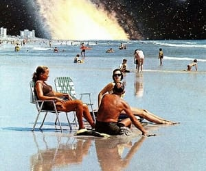 beach, galaxy, and space image