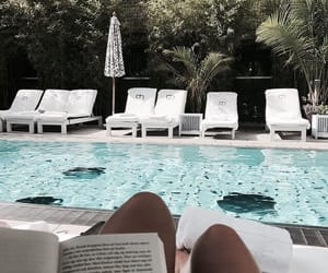 summer, book, and blue image