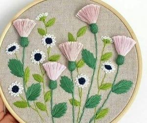 bordado, flores, and puntadas image