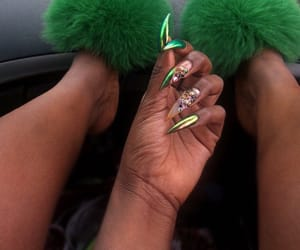 fur, green, and nails image