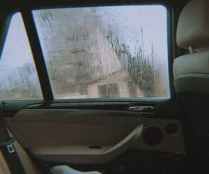 baby, car, and rain image