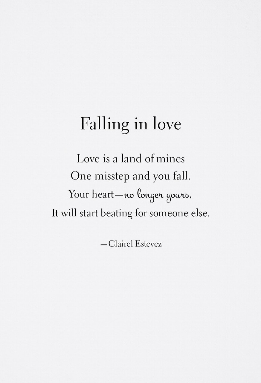Falling In Love ~ Quote | Quotes | Writing | Words | Poet ...