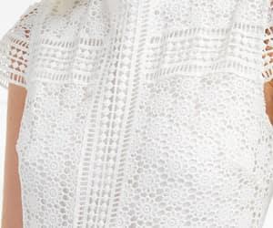 crochet, eyelet, and dress image