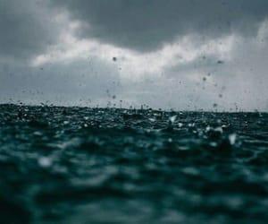 ocean, rain, and sea image