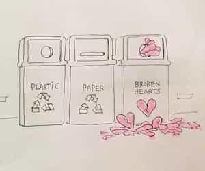 broken heart, art, and broken image