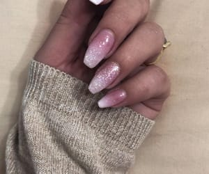french, nails, and ombre image