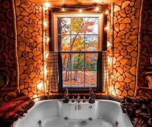autumn, bathroom, and fall image