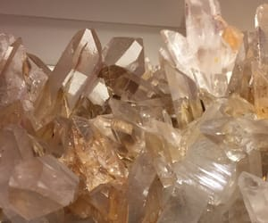 beige, aesthetic, and crystal image