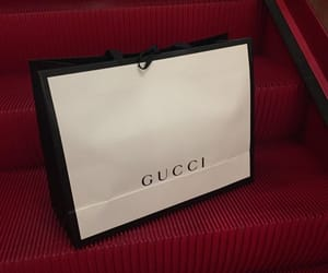 gucci, luxury, and red image