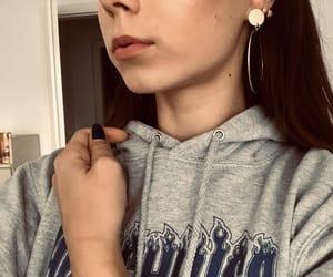 brownhair, girl, and makeup image