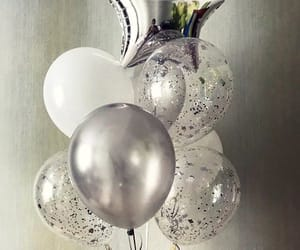 balloons, birthday, and glitter image