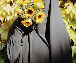 flowers, hijab, and mashaallah image