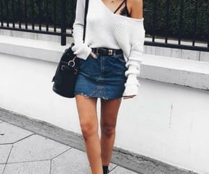 black top, fashion, and goals image