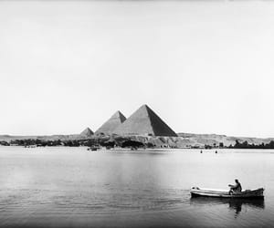egypt, pyramid, and black and white image