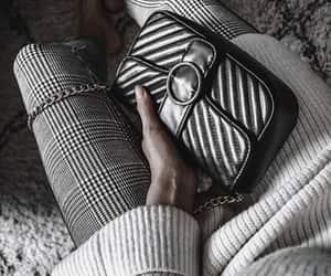 fashion, sweater, and handbag image